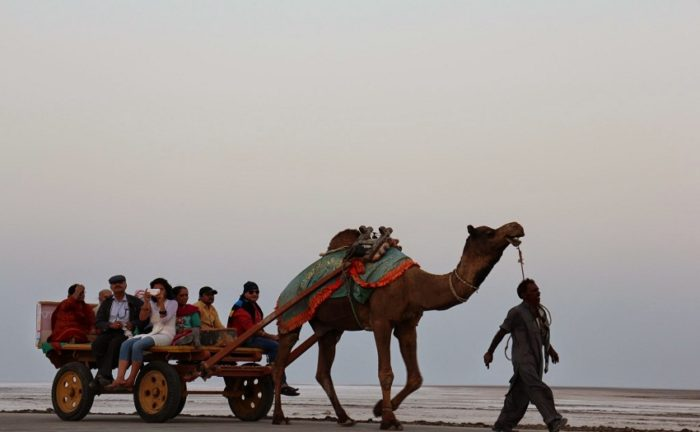 Camel rides and sand artwork